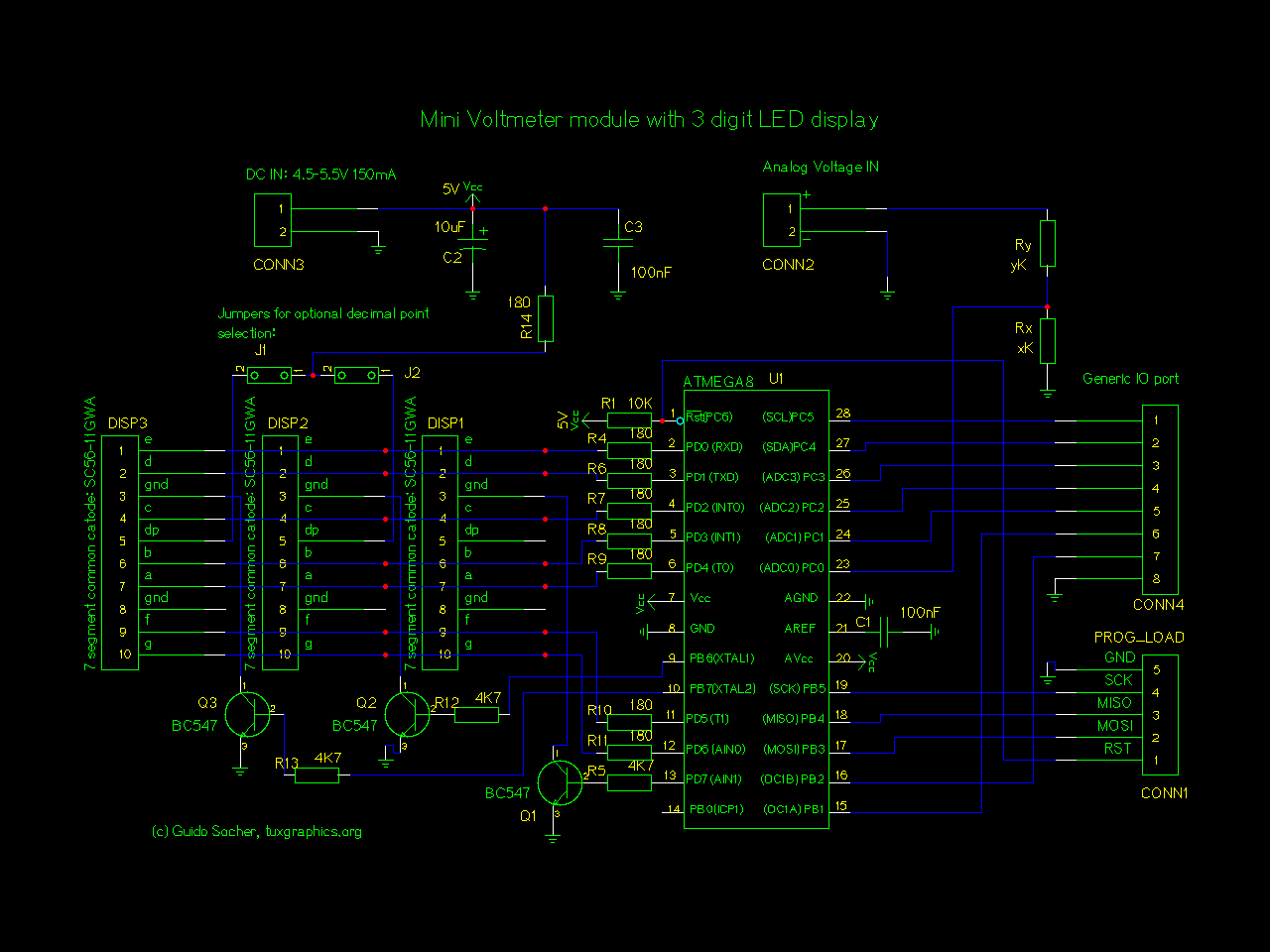 Led Wiring Diagram Of Voltmeter Library Using Arduino Electronicslab Circuit