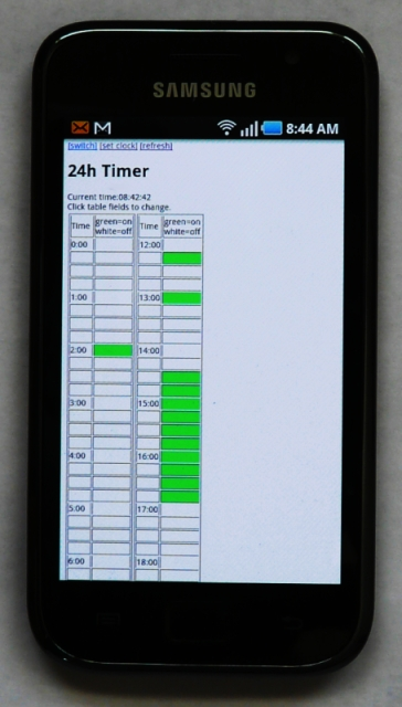 the 24 hour timer on a smart phone